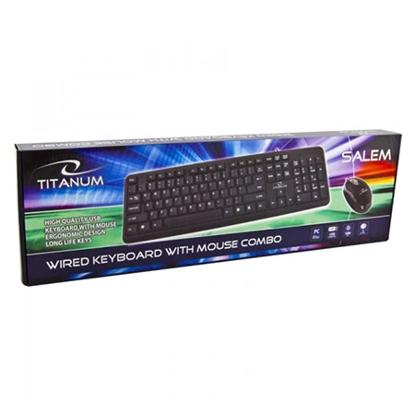 Slika od Tastatura i miš TITANUM SALEM, USB, US layout, TK106