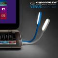 Picture of LED lampa za notebook ESPERANZA, 6-LED, USB, blue, fleksibilna EA147B