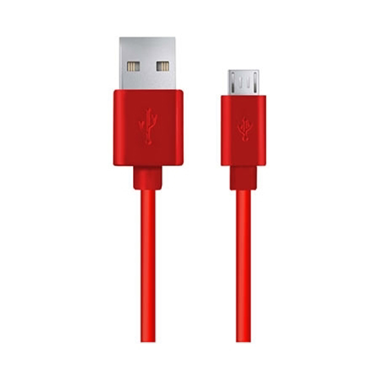 Picture of USB 2,0 kabal A-microB 1m, ESPERANZA, red, EB143R