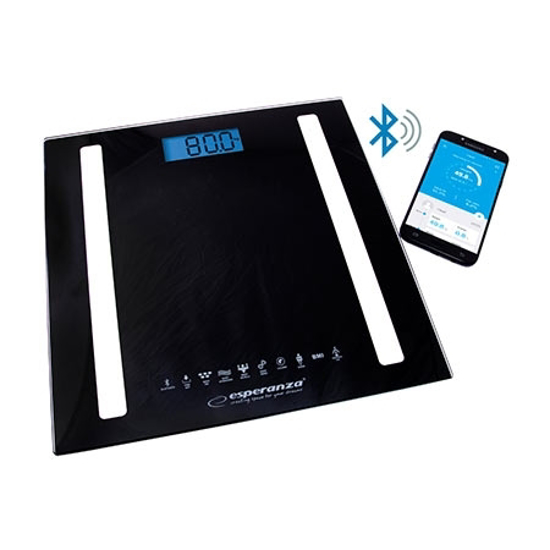 Picture of Kućna vaga ESPERANZA 8in1 bluetooth scale BESTFIT black, EBS016K