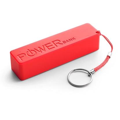 Slika od PowerBank EXTREME QUARK, 2000mAh RED, + key ring, XMP101R