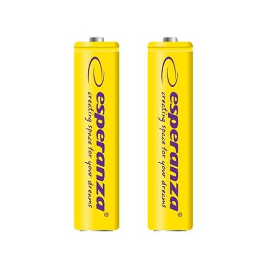 Picture of Punjive baterije ESPERANZA RECHARGEABLE Ni-MH AAA 1000MAH 2kom. yellow, EZA101Y