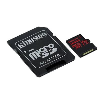Slika od  MICRO SD KINGSTON 64GB SDCR/64GB  CLASS 10 UHS-I U3 100MB/S READ,80MB/S WRITE;SD ADAPTER