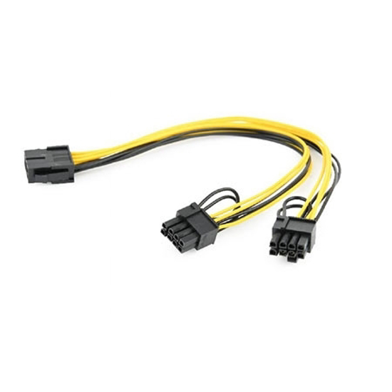 Picture of Kabl napojni interni GEMBIRD, CC-PSU-85, 8 pin PCIe to 2x 6+2 pin PCIe power extension cable, 0.3 m