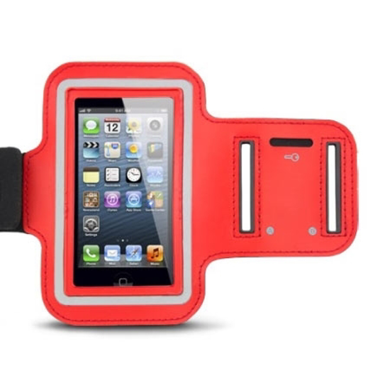 Picture of Sportska futrola za mobitel ESPERANZA ARMBAND, velicina XL, 68,5 x 130mm, red, touch sensitive EMA122R-XL