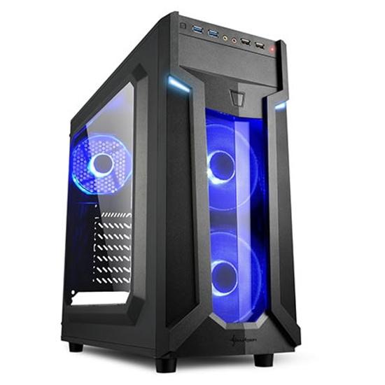 Picture of Kućište SHARKOON gaming, VG6-W blue, ATX, ventilator 3x120 mm LED, 2xUSB3, Window