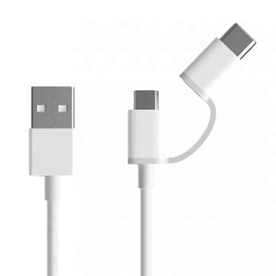 Picture of USB kabl Xiaomi Mi 2 in 1 Micro USB to Type C 100cm SJV4082TY White
