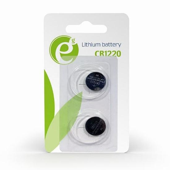 Picture of Gembird dugmasta baterija CR1220 lithium 2kom, 3V EG-BA-CR1220-01