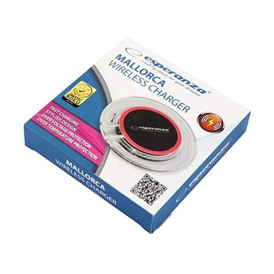 Picture of Wireless punjač za mobitel ESPERANZA LEROS, black-red, EZ127KR