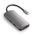Picture of USB Multiport Adapter SHARKOON Type-C to3xUSB3.0, HDMI,MicroSD/MMC,USB Type-C dark gray