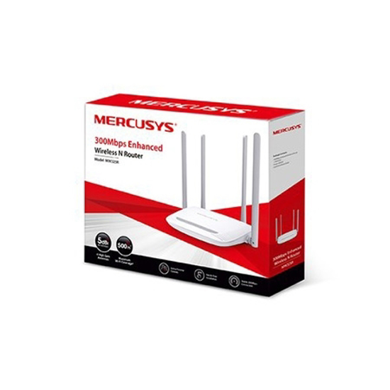 Picture of ROUTER Mercusys MW325R  300Mbps, 4x5dBi fixed omni directional antennas, 4x10/100Mbps LAN ports,  IEEE 802.11b, 2.4GHz, CE,