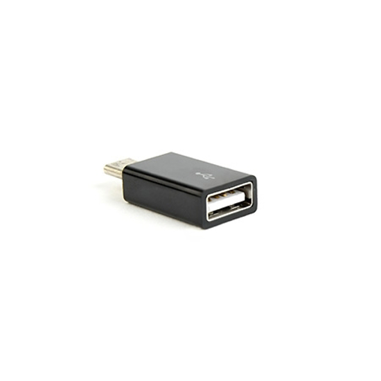 Picture of USB 2.0 Type-C adapter (CM/AF), BLACK, GEMBIRD CC-USB2-CMAF-A