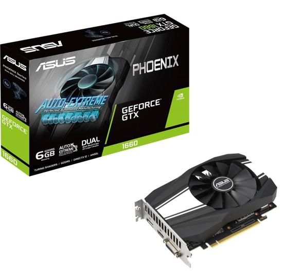 Picture of ASUS VGA PH-GTX1660-6G NVIDIA GeForce GTX 1660 6GB GDDR5 192bit;DVI,HDMI,DP 90YV0CU1-M0NA00