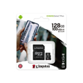 Picture of Micro SD card Kingston 128 GB SDHC  SDCS2/128GB  Class10 Canvas Select Plus SD adapter;100MBs Read,Class 10 UHS-I