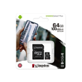 Picture of Micro SD card Kingston 64 GB SDHC  SDCS2/64GB  Class10 Canvas Select Plus SD adapter;100MBs Read,Class 10 UHS-I