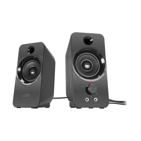 Picture of Zvučnici 2.0 SPEEDLINK DAROC Stereo Speaker, black, SL-810005-BK