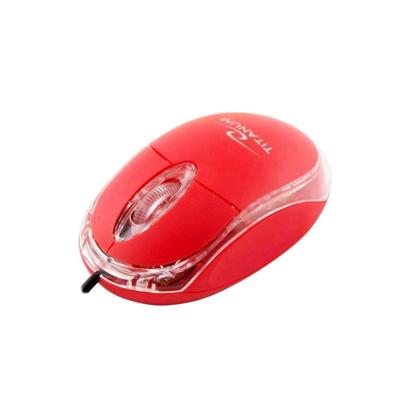 Slika od Miš TITANUM 3D RAPTOR, USB, optical, black, 1000 dpi, red, TM102R