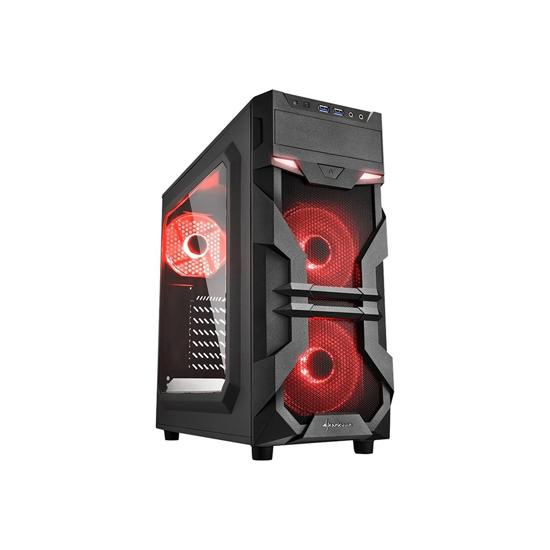 Picture of Kućište SHARKOON gaming, VG7-W red, ATX, 3x120 ventilator, USB3.0