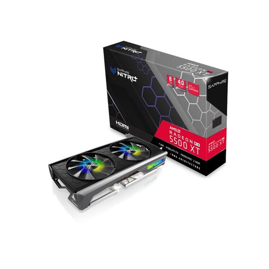 Picture of SAPPHIRE NITRO+ RADEON RX 5500 XT 8G GDDR6 DUAL HDMI / DUAL DP OC W/BP (UEFI) SPECIAL EDITION LITE 11295-05-20G