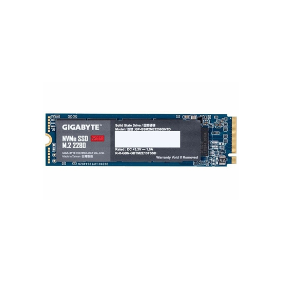 Picture of GIGABYTE M.2 PCIe SSD 256GB NVMe 1.3,GP-GSM2NE3256GNTD; read up to 1700 MB/s,write up to 1100MB GPSE3N256-00-G
