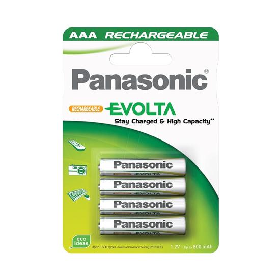 Picture of PANASONIC punjive baterije HHR-4MVE/4BC, AAA, 750mAh, Ni-MH, Rechargeable, 4 kom, 1.2V, 750mAh