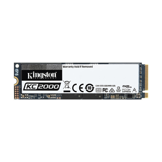 Picture of Kingston SSD 500GB KC2000 M.2, NVMe PCIe Gen 3.0 up to 3,000/1,100 MB/s, SKC2000M8/500G