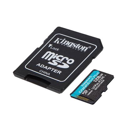 Slika od Micro SD card Kingston 128GB CanvasGoPlusr/w 170MB/s/90MB/s with adapter SDCG3/128GB