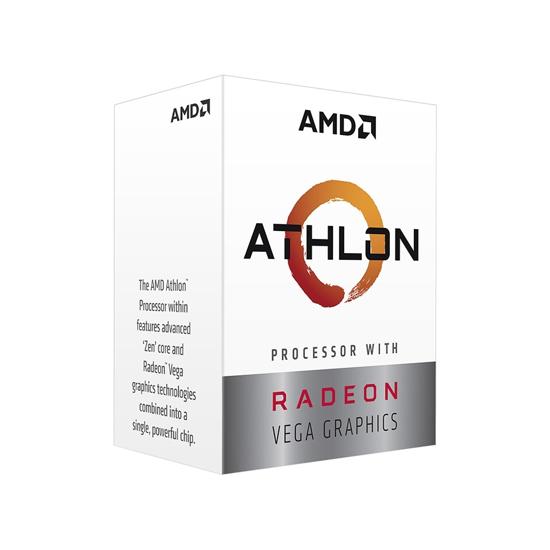 Picture of AMD Athlon 3000G AM4 BOX 2 CPU cores,4 threads,3.5GHz 4MB L3,95W,Radeon Vega 3
