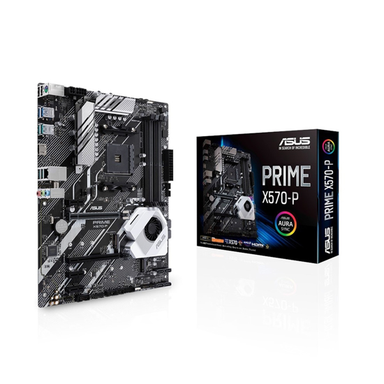 Picture of MB ASUS PRIME X570-P AMD AM4 ATX PCIe 4.0, , DDR4 4400MHz, dual M.2, HDMI, SATA 6Gb/s, USB 3.2 Gen 2 and Aura SynC RGB header