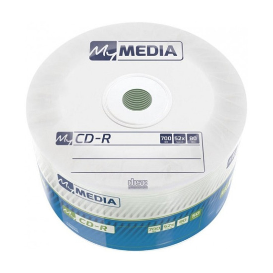 Picture of CD-R,MYMEDIA, 700 MB,52X,spindle 50 kom WRAP,69201