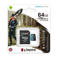Picture of Micro SD card Kingston 64GB CanvasGoPlus r/w 170MB/s/90MB/s with adapter SDCG3/64GB