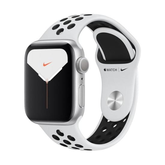 Picture of Apple Watch Series Nike 5 GPS 44mm Alu silver Sport platinum/black