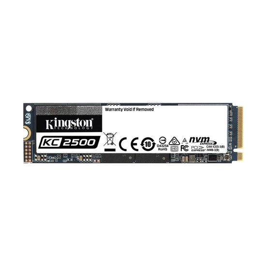 Picture of Kingston SSD 500GB KC2500 M.2,NVMe PCIe Gen 3.0 up to 3,500/2,500 MB/s SKC2500M8/500G