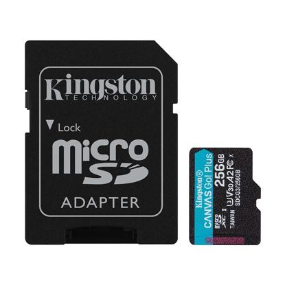 Slika od Micro SD card Kingston 256GB CanvasGoPlusr/w 170MB/s/90MB/s with adapter SDCG3/256GB