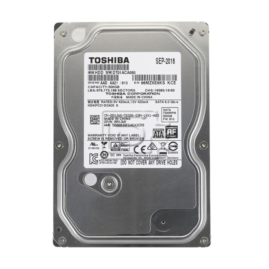 """Picture of HDD 500GB Toshiba 3.5"""" 7200rpm 32MB DT01ACA050-P PULL"""