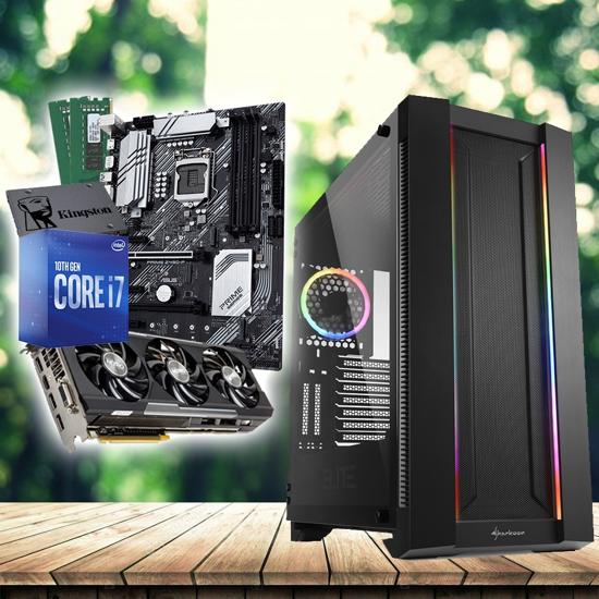 Picture of GNC RAČUNAR GAMER - i7-10700 CPU, ASUS MB PRIME Z490-P, SAPPHIRE NITRO R9 390 8G GDDR5, RAM Kingston DDR4 16GB 2666MHz, SSD Kingston 480GB, NO OS