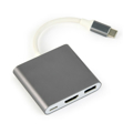 Picture of USB adapter Type-C to Type-C, USB3.0, HDMI, GEMBIRD,Space Grey, A-CM-HDMIF-02-SG