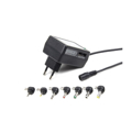 Picture of AC-DC ADAPTER univerzalni GEMBIRD, EG-MC-008 24W, 100-240V, 3,4.5,5,6,7.5,9,12V, set konektora