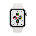 Picture of Apple Watch SE 44mm Silver Aluminium Case with Sport Band - White