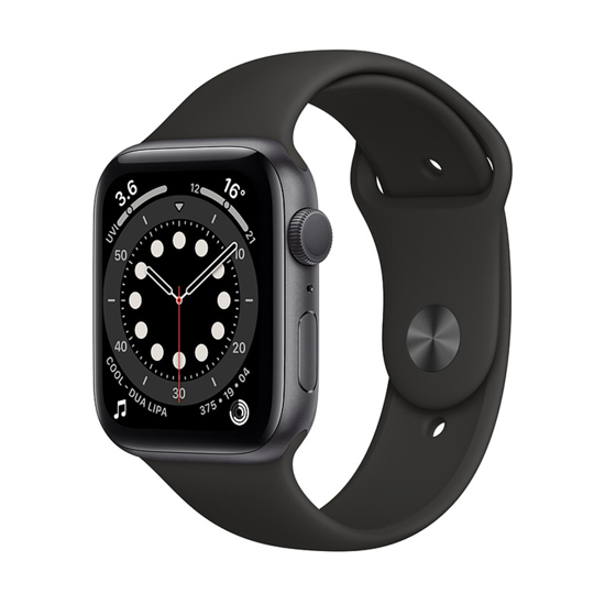Picture of Apple Watch SE 44mm Space Gray Aluminium Case with Sport Band - Black