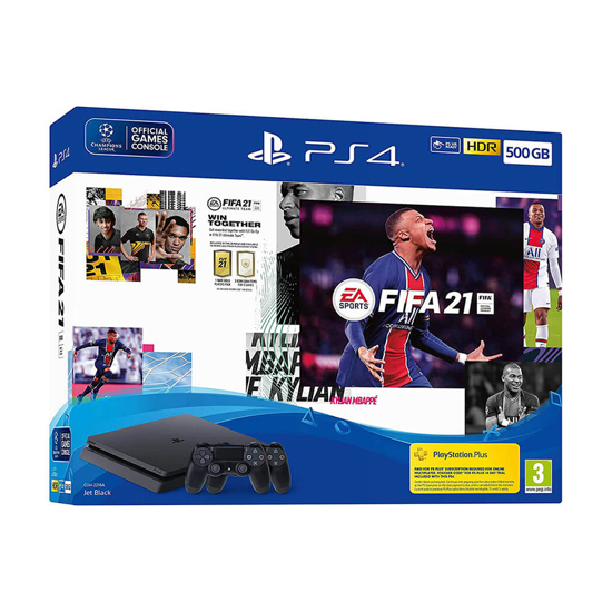Picture of Sony Playstation PS4 konzola 500GB Slim Black Chassis + Fifa 21+ dual shock kontroler