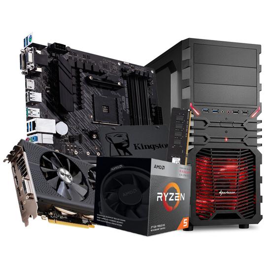 Picture of GNC GAMER RYZEN 5, RAM 8 GB 2400 G.Skill, Nitro RX 480 4 GB, ASUS MB TUF GAMING A520M-PLUS, SSD 240 GB, 500 W COLER MASTER, Sharkoon kućište