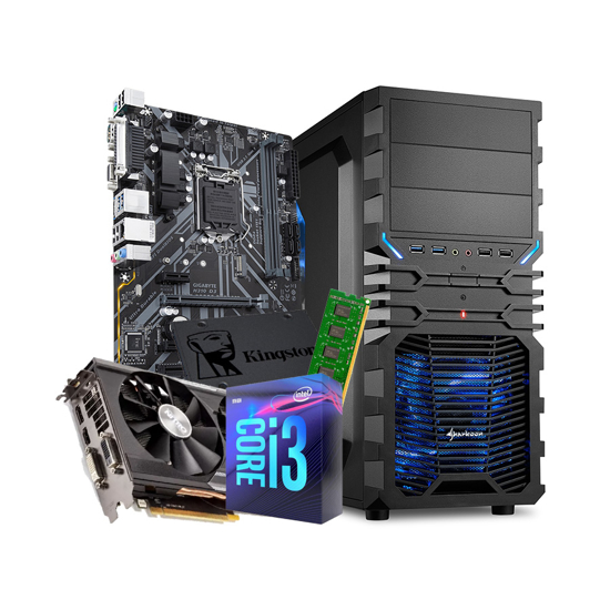 Picture of GNC GAMER i3 9100F, R9 380 4 GB, MB H310, 8 GB RAM, SSD 240, 500 W Sharkoon, VG4-W ATX, 24 mjeseca