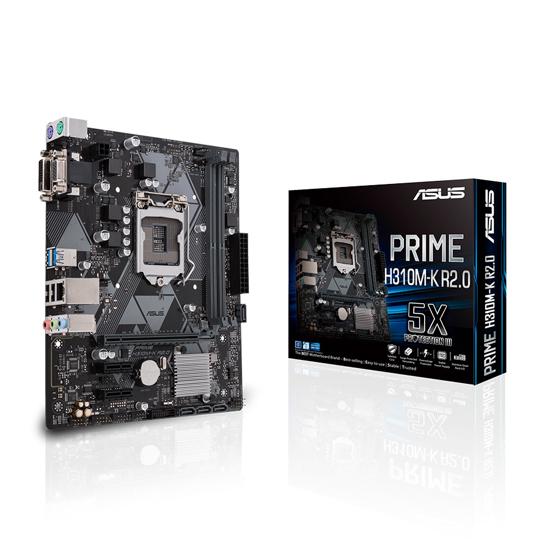 Picture of MB ASUS PRIME H310M-K R2.0 Intel H310;2xDDR4;VGA DVI,HDMI,micro ATX