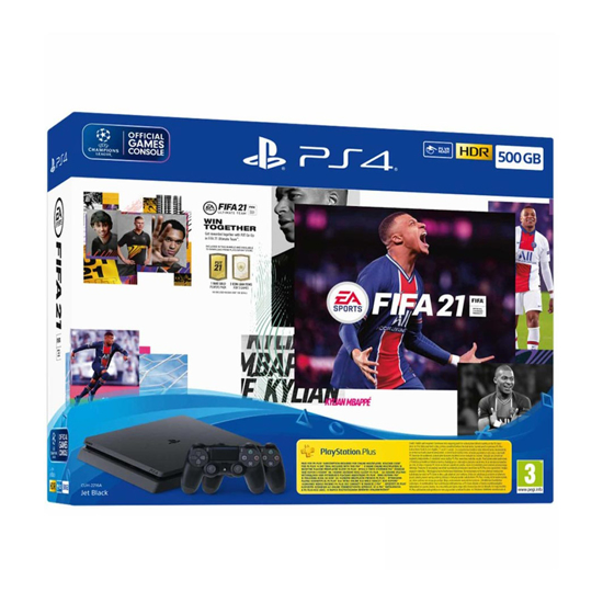 Picture of PlayStation 4 500GB F Chassis Black + FIFA 21 + FUT VCH + PS Plus 14dana + Dualshock Controller v2