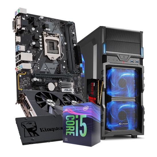 Picture of GNC GAMER - i5 9400F, NITRO RADEON RX 480 4G, H310M, SSD 480 GB, RAM G.SKILL (2X8GB) DDR4 2400MHZ, Sharkoon kućište