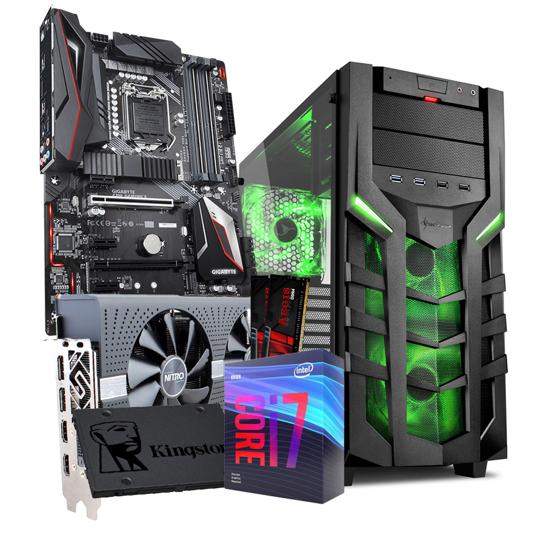 Picture of GNC GAMER- i7-9700F 3.0GHz 12MB,NITRO+ RADEON RX 570 8G GDDR5,G.SKILL 16GB(2x8) DDR4 3200MHZ, SSD Kingston 480GB A400, MB Z390, 600 W, DG7000-G green