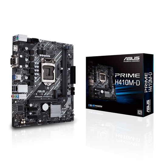 Picture of ASUS MB PRIME H410M-D INTEL H410 LGA1200 2XDDR4 4xSATA 6Gb/s 1xM.2 HDMI