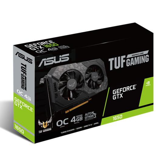 Picture of ASUS VGA TUF-GTX1650-O4GD6-P-GAMING NVIDIA GeForce GTX 16504GB GDDR6 128bit, DVI, HDMI, DP