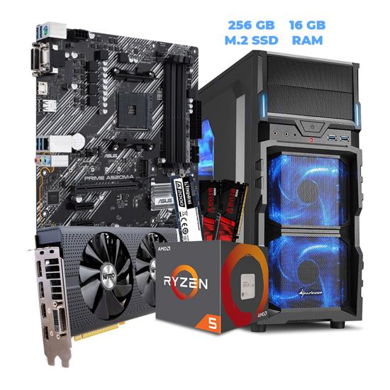 Picture of GNC GAMER Ryzen 5 GAMING 1600 6x3.20Ghz, ASUS MB PRIME A520M,NITRO RADEON RX 480 4G,G.SKILL (2X8GB) DDR4 2400MHZ, King250GB A2000 PCIe M.2,500W, VG5